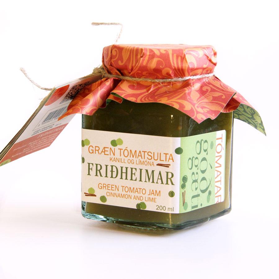 Green tomato jam with cinnamon and lime
